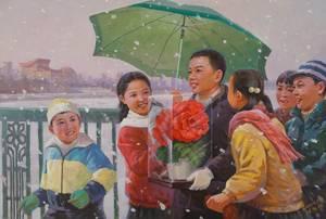 Kim Ch'ŏl-wŏn, Een februari-ochtend, 2003, werk op papier, collectie Ronald de Groen