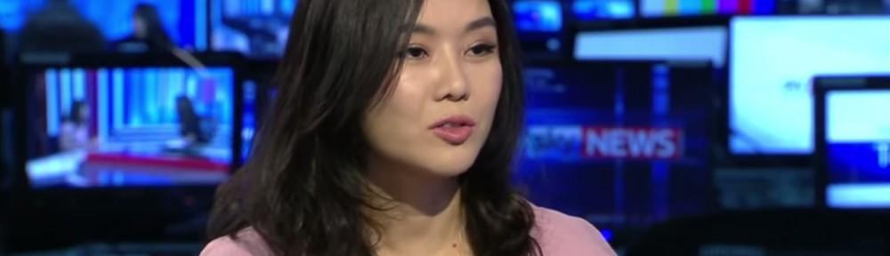 Hyeonseo Lee in een vraaggesprek met Sky News.